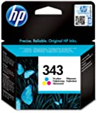 HP 343 - Cartucho de tinta Original HP 343 Tricolor para HP DeskJet, HP OfficeJet, HP PSC, HP Fax