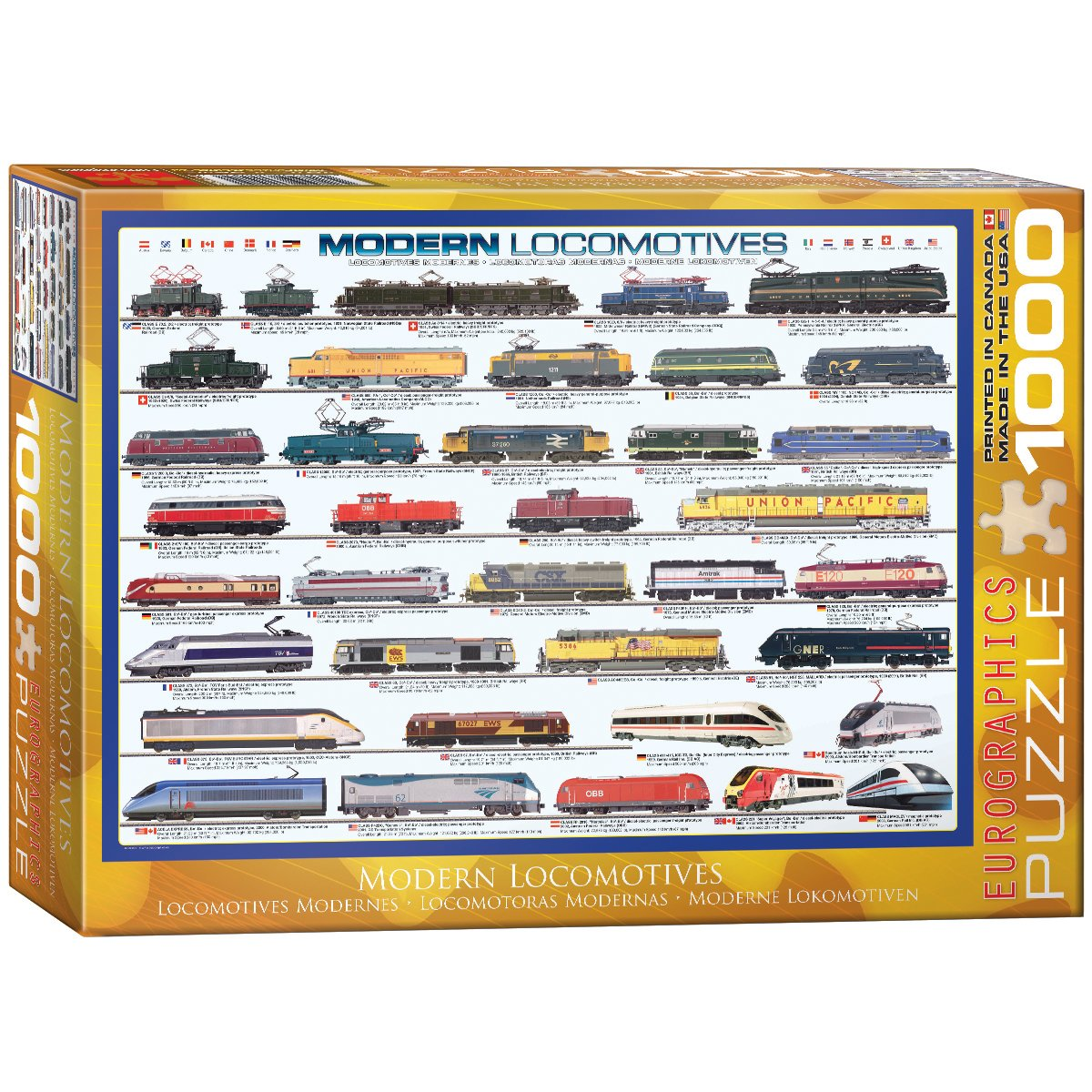 Eurographics Modern Locomotives 1000-Piece Puzzle Eurographics - Toys 6000-0091