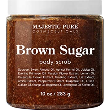 Amazon Com Brown Sugar Body Scrub For Cellulite And Exfoliation Natural Body Scrub Reduces The Appearances Of Cellulite Stretch Marks Acne And Varicose Veins 10 Ounces Beauty