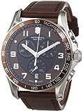Victorinox Swiss Army - 241653 - Montre Homme - Quartz - Chronographe - Bracelet cuir Marron