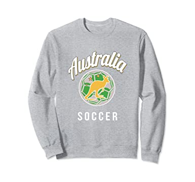 Amazon.com  Australian Football Jersey 2018 Sweatshirt Australia Soccer   Clothing 8da27d2e7