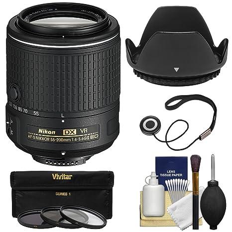 Nikon 55 - 200 mm f/4 - 5.6 G VR II DX AF-S Nikkor ED con 3 ...