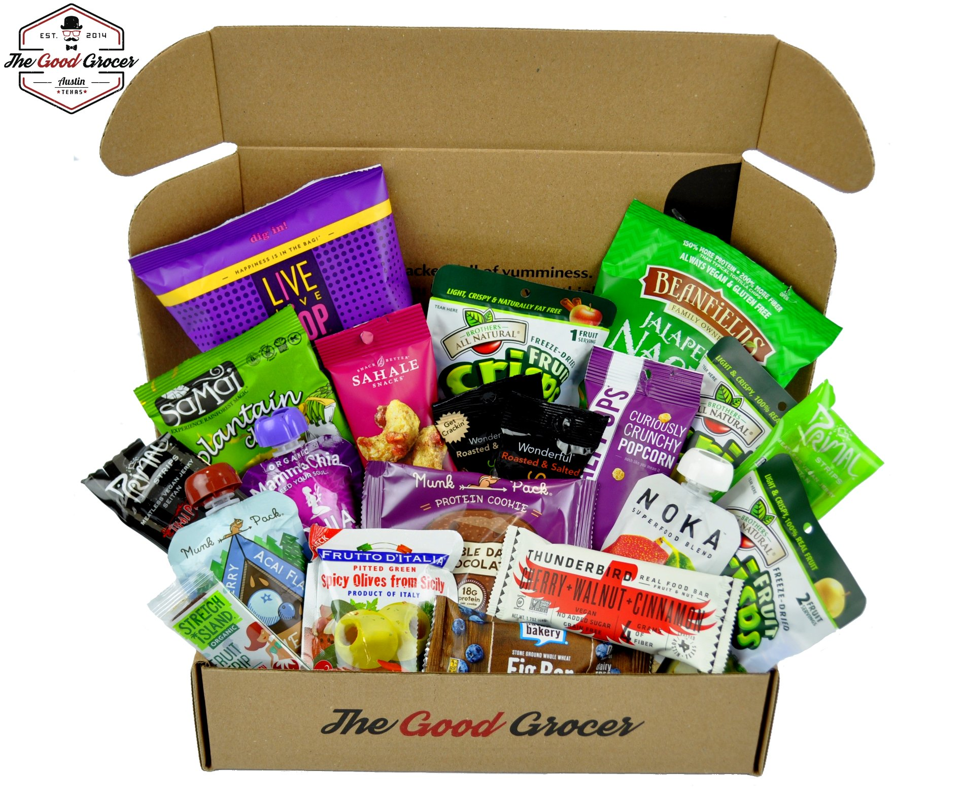 Amazon gluten free and vegan healthy snacks care package 28 premium vegan snacks care package non gmo vegan protein bars cookies negle Choice Image