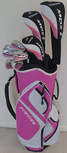 Premium Womens Golf Ladies Right Handed Petite Complete Golf Set, White Pink