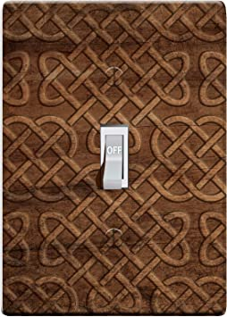 3 D Effect Printed Maxi Viking Norse Celtic Knot Wood Pattern Switch Outlet Cover L0047 1 Gang Toggle Amazon Com