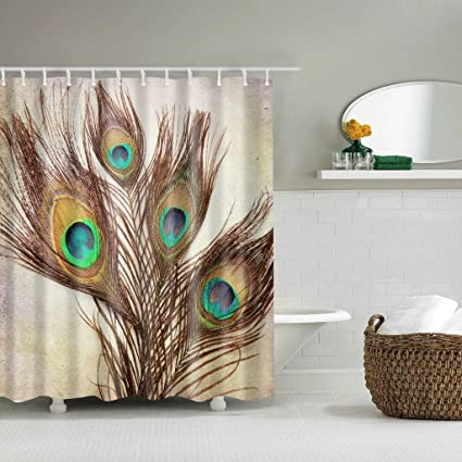 Image Unavailable Not Available For Color Cedmon Peacock Shower Curtain