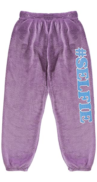 Amazon.com: iscream Big Sweatpants de forro polar de peluche ...