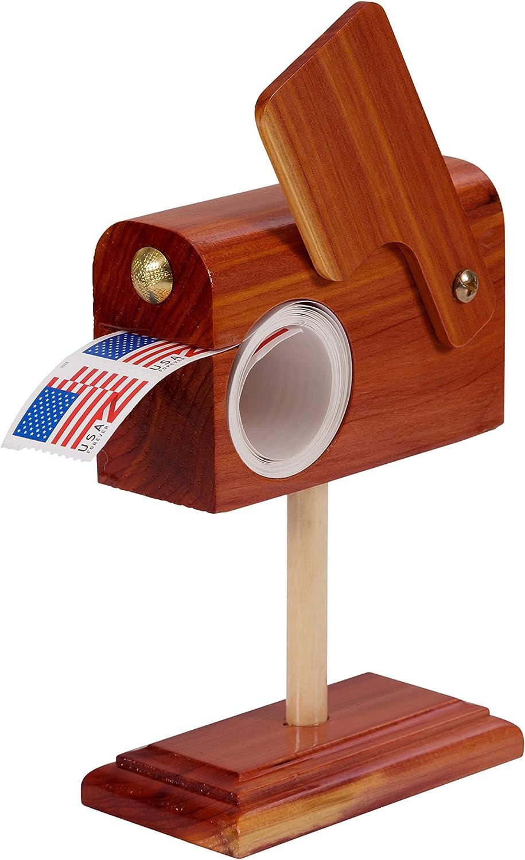 Hearthside Classics Handcrafted Cedar Mailbox Stamp Roll Dispenser