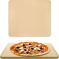 Vescoware Pizza Stone for Oven - Baking Stone for Bread - 16x15 inch Rectangular Pizza Stone for Grill with Recipes E-Book