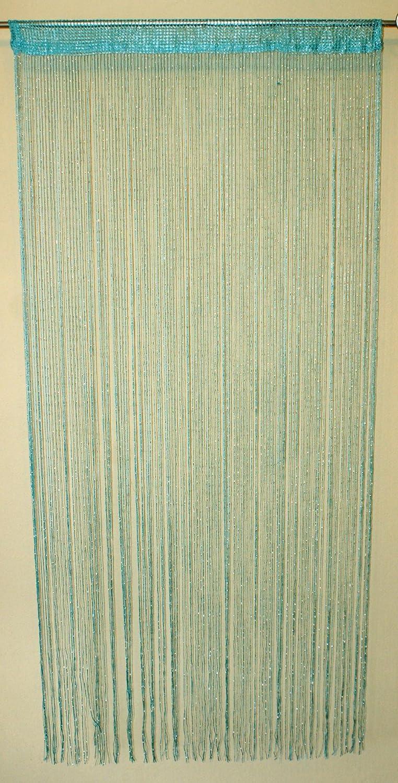 Rideau de Fil Hauteur: 200 cm Turquoise // Paillettes Meilleure Qualit/é AeMBe Largeur: 100 cm Rideau /à Cordes Le Rideau /à la Porte