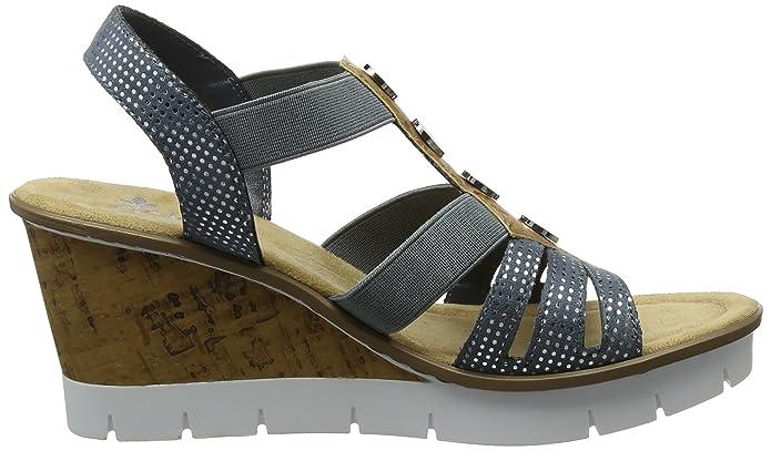 Rieker Damen V5537 Geschlossene Sandalen