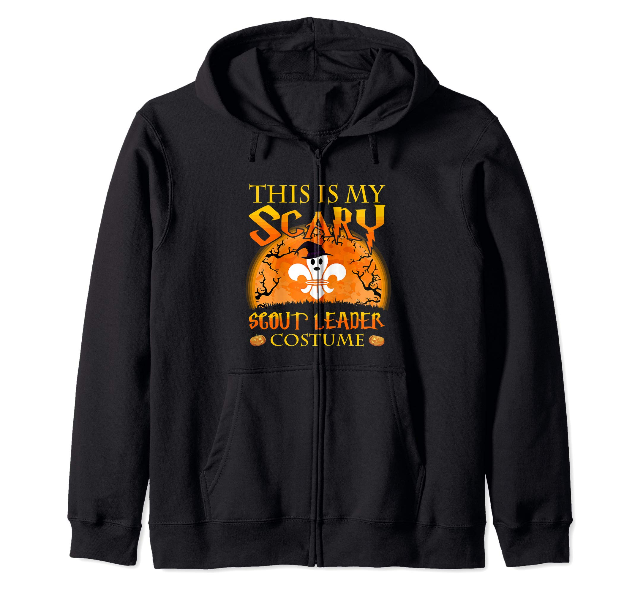 This Is My Scary Scout Lead Costume Scouting Camping Gift Zip Hoodie by Scouting Leader Halloween Costume