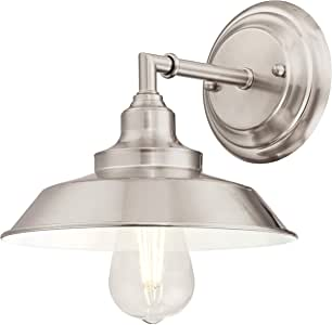 Westinghouse Lighting 63543 Iron Hill One-Light Indoor Wall Fixture, Brushed Nickel Finish