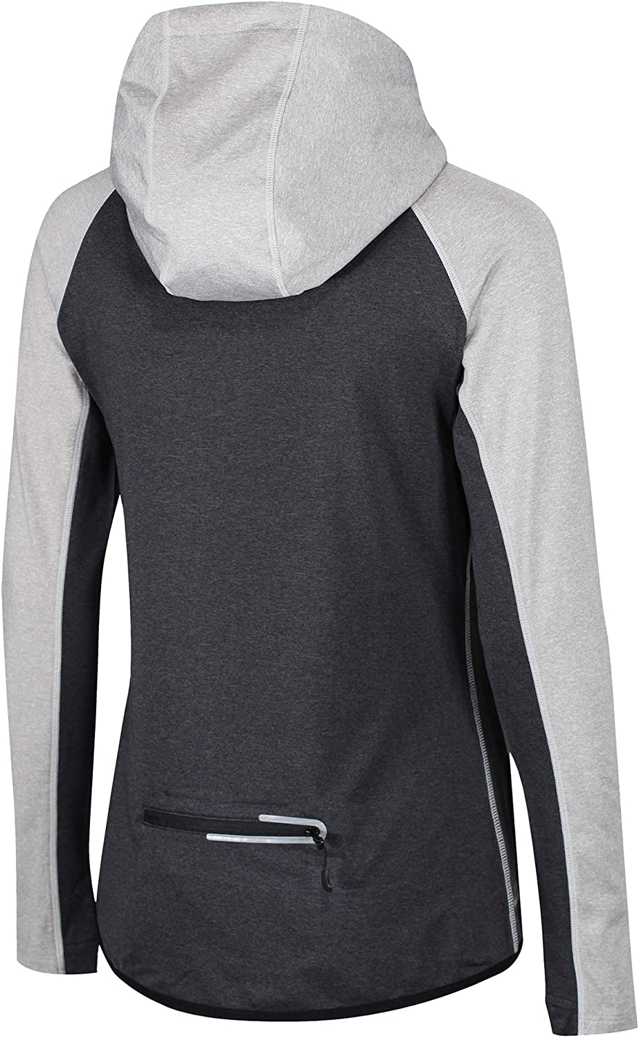 ZONE3 Performance Culture - Felpa da Donna con Cappuccio e Zip Marl Grey/Charcoal/Electric Coral