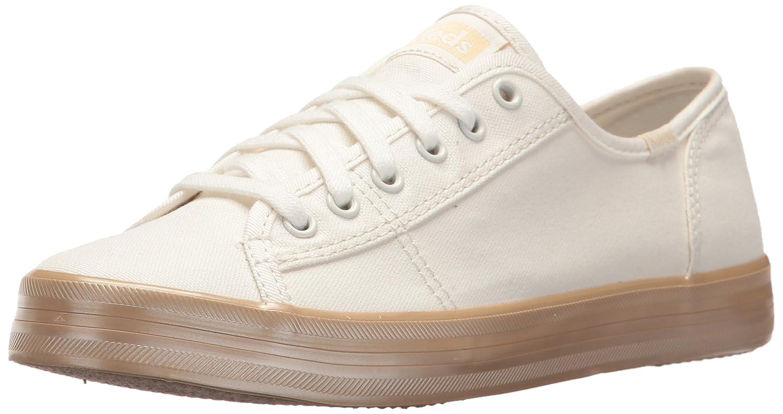 Keds Women's Kickstart Shimmer Sneaker B072Y5N19M 7.5 B(M) US|Cream/Gold