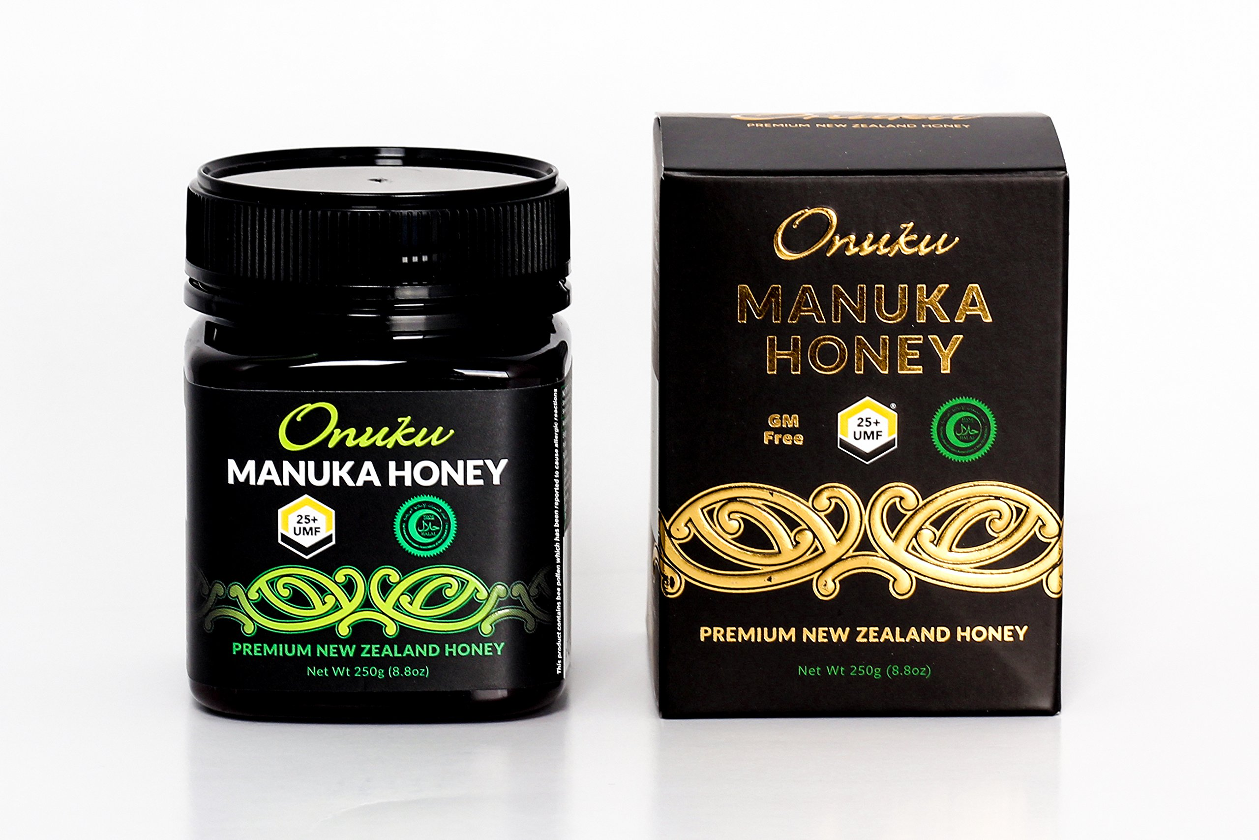 Onuku Certified Manuka Honey UMF 25+ Authentic Pure New Zealand Manuka – 250g Jar – Tasty and Flavorful Honey – Proven Health Benefits