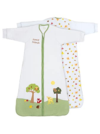 Slumbersafe Winter Baby Sleeping Bag Long Sleeves 3.5 Tog - Forest Friends, 0-6 Months/Small