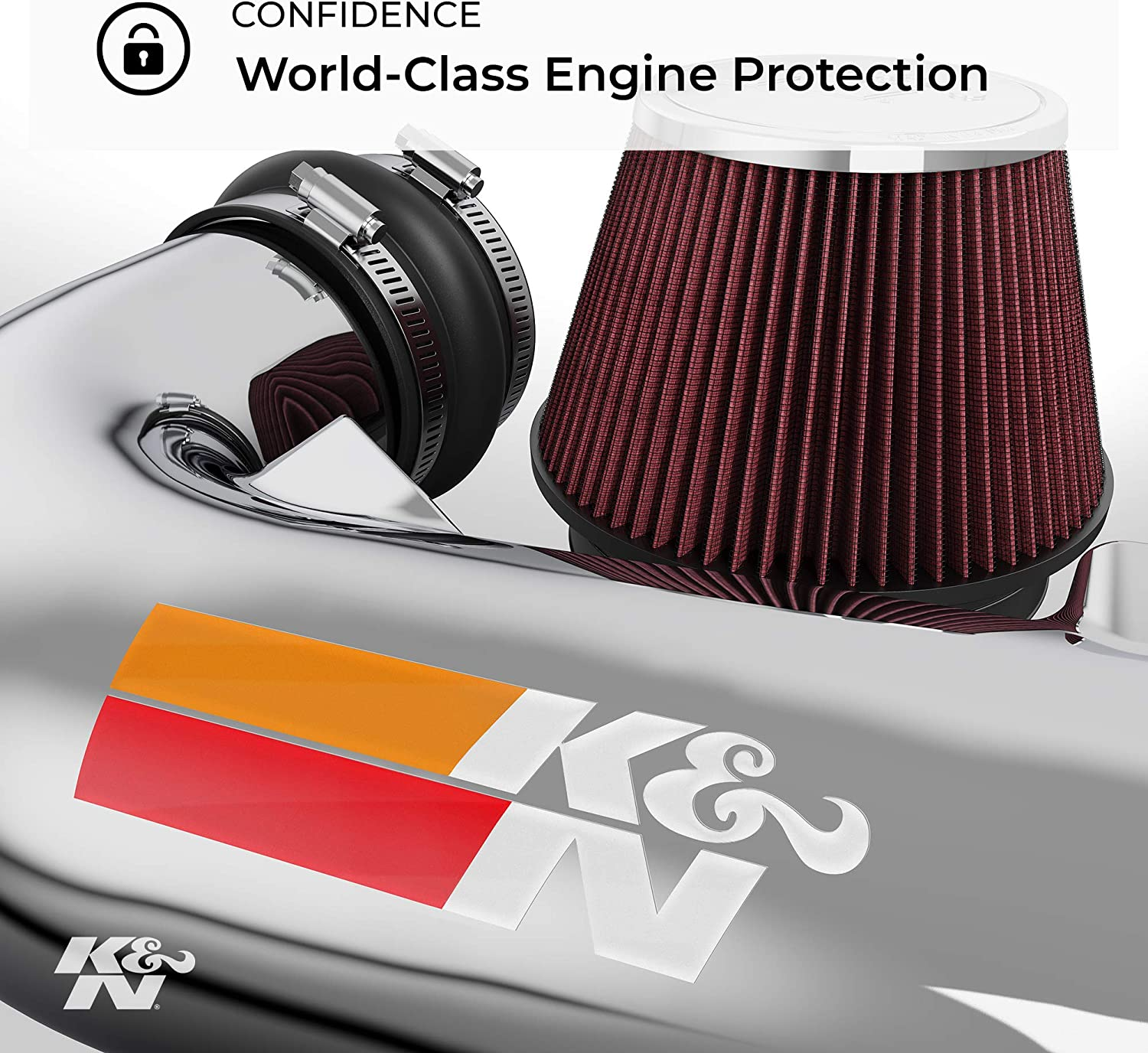 K/&N 69-3518TS Washable and Reusable Car Performance Intake Kit