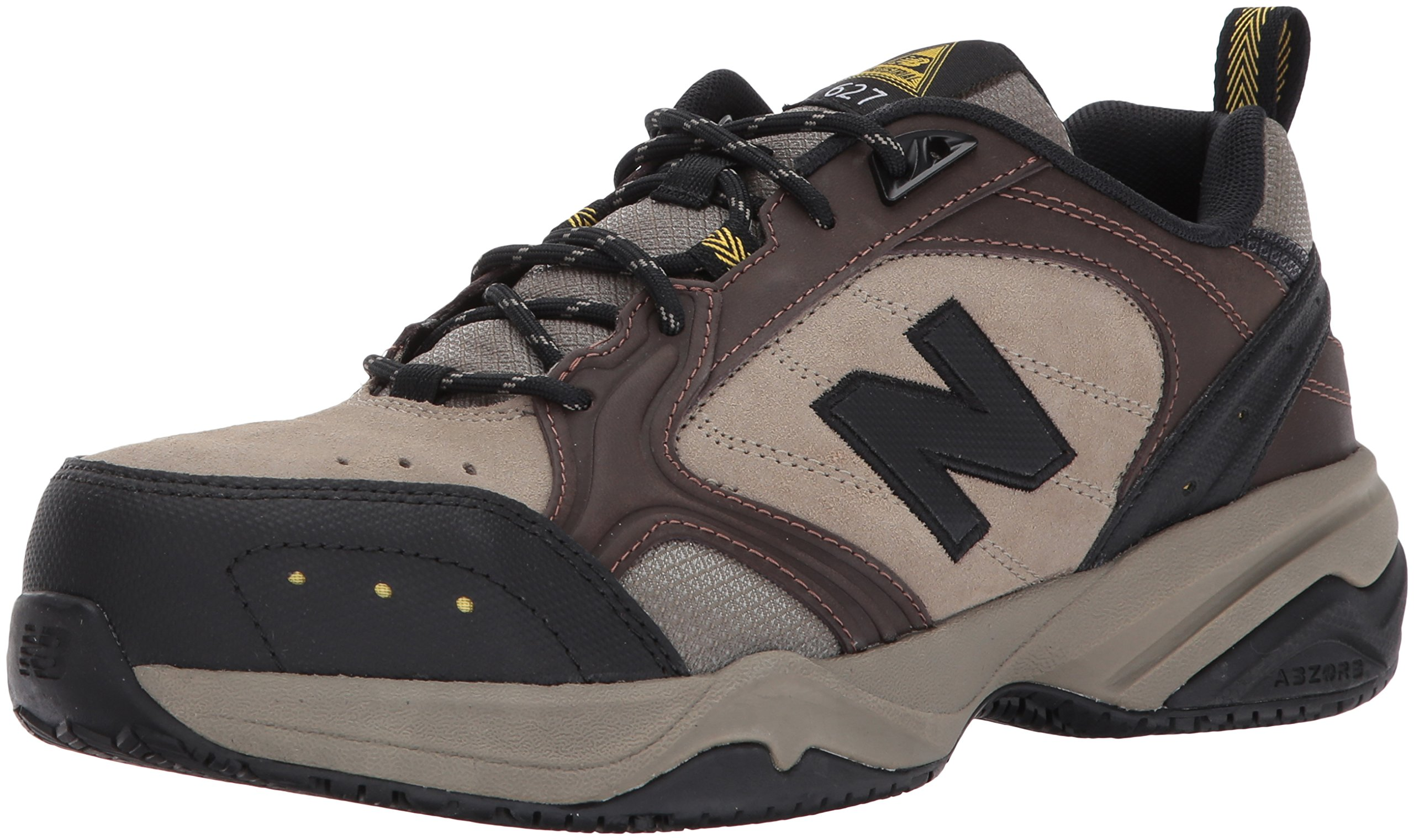 New Balance Men's MID627 Steel-Toe Work Shoe,Brown,18 4E US