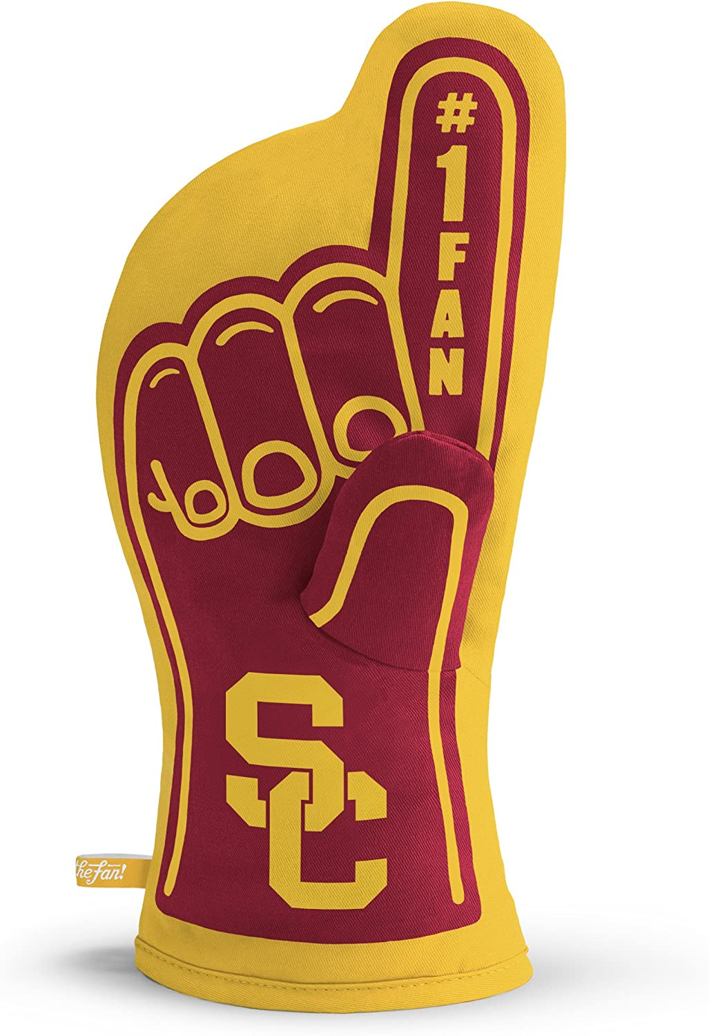 YouTheFan NCAA #1 Oven Mitt:13.25'' x 6.5'' Heat Resistant 100% Quilted Cotton Team Oven Mitt
