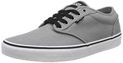 ddfc97b86b6 Vans Men s Atwood (Canvas) Frost Gray and White Sneakers - 10 UK India