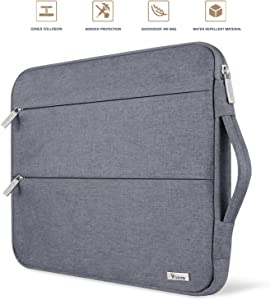 Voova 11 11.6 12 Inch Laptop Sleeve Case Cover, Water Resistant Computer Protective Bag Compatible with MacBook Air 11, Mac 12, Surface Pro X 7 6 5 4, Acer Asus Chromebook Ultrabook with Handle, Gray