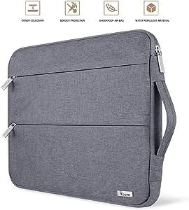 Amazon.com: Voova 15.6 14 15 Inch Laptop Sleeve Case with ...