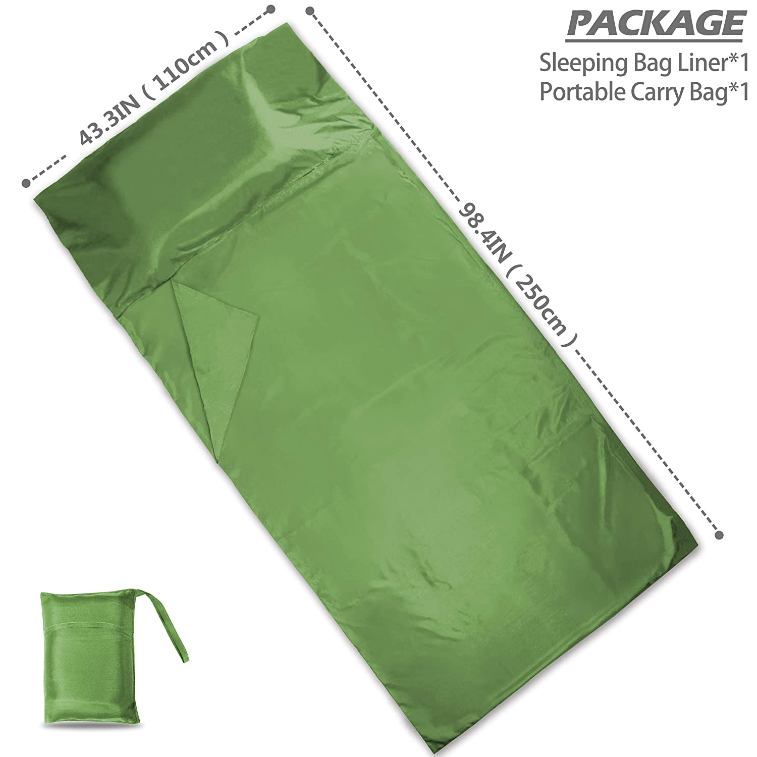 DIMPLES EXCEL Sleeping Bag Liner with Luxurious Space