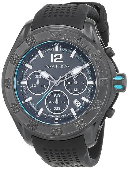 Nautica Reloj Analógico para Hombre de Cuarzo con Correa en Caucho 0656086078930: Amazon.es: Relojes