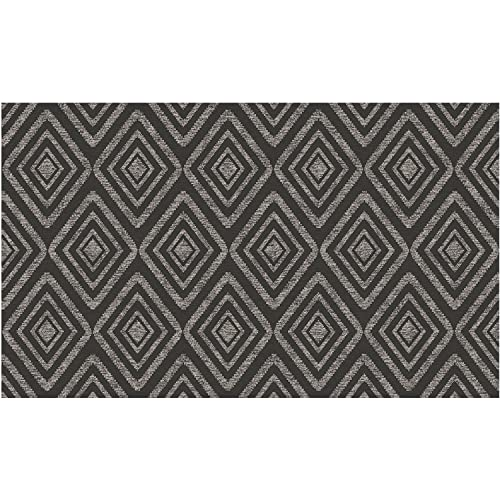 RUGGABLE Prism Black Washable Indoor Outdoor Stain Resistant 3 x5 36 x60 Accent Rug 2pc Set Cover and Pad