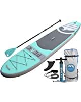 """PEAK Inflatable 10'6 Stand Up Paddle Board Complete Package (6"""" Thick) 