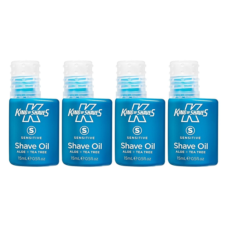 Rey de afeita 15 ml de aceite afeitado delicado quad-pack The King of Shaves Company 10110338A