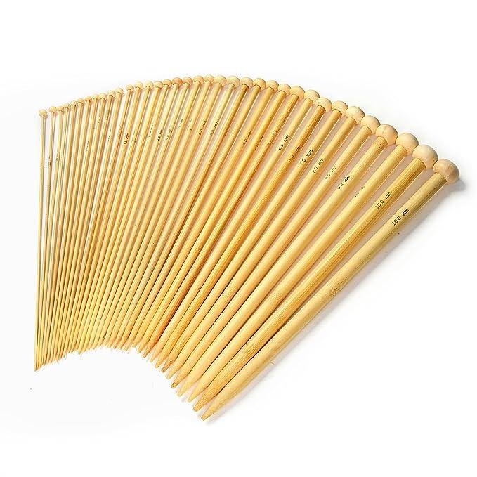 31 opinioni per LIHAO 18 Pacchetti di Bamboo Knitting Needles, maglia Uncinetto set con standard