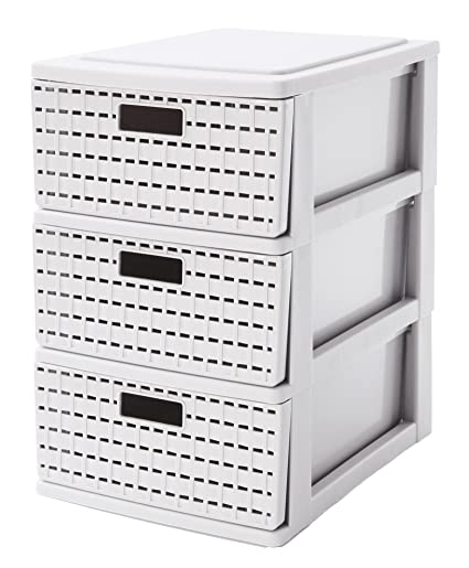 Amazon.com: Sundis Country Tower Storage Drawer, White, A5 ...