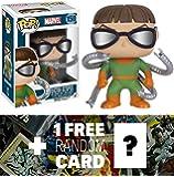 Doctor Octopus: Funko POP! x Marvel Universe Vinyl Bobble-Head Figure + 1 FREE Official Marvel Trading Card Bundle (072605)