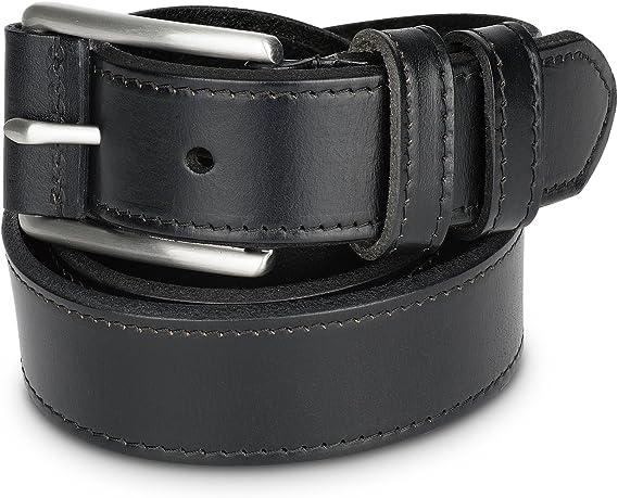 Vintage Mens Leather Jeans Belt Brown Size 36