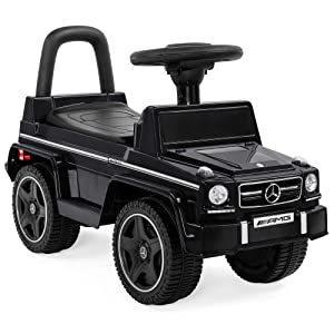 Best Choice Products Kids Mercedes G63 Convertible Foot-to-Floor Push Car Ride-On Toy Buggy w/ Steering Wheel - Black
