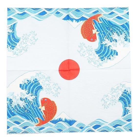 Japonés tradicional Patrón de la Serie Toalla de Papel Servilleta Pack de 10 - Japan Import - Gran Ola de Kanagawa Monte Fuji Ukiyo-e con la Carpa PNK-041: ...