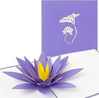 Carte Pop Up Lotus Fleur 3d Fleur De Carte Pour Diverses