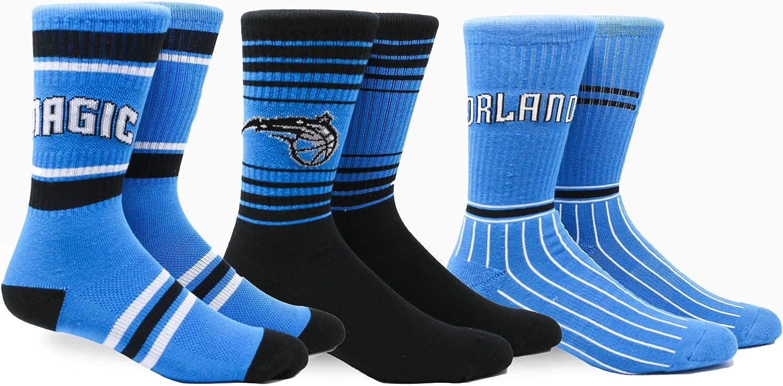 Pkwy NBA mens Team Crew 3pk Socks