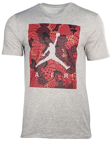 9d09a09135f Amazon.com : Jordan Men's Dri-Fit Nike Flight Flex Jumpman T-Shirt-Grey-XL  : Sports & Outdoors