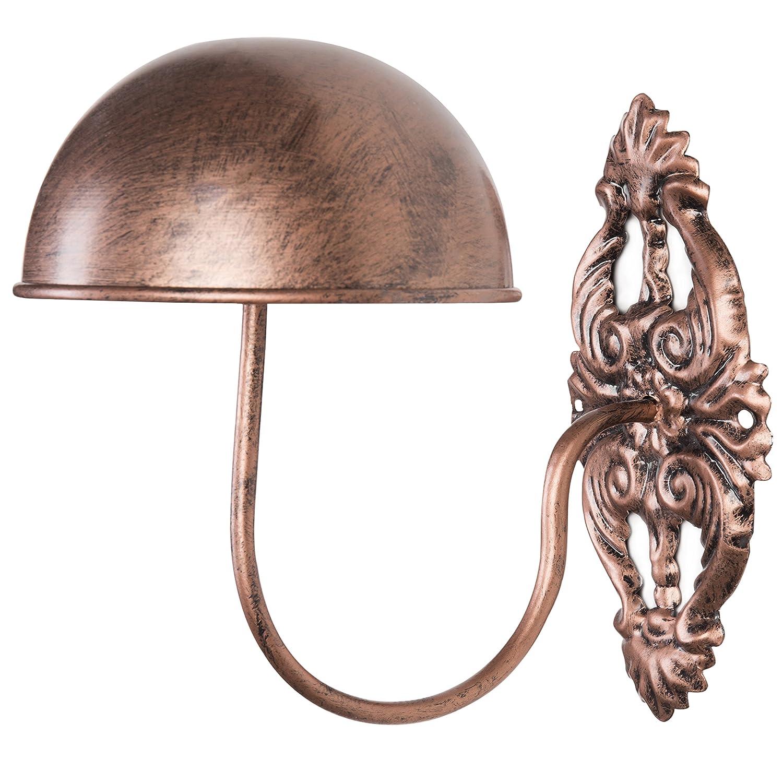 MyGift Decorative Vintage Style Black Metal Wall Mounted Entryway Hat/Cap / Wig Hanger Display Rack AX-AY-ABHI-72288
