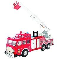 MGM - Véhicule - Camion Pompier - Friction avec Sirène, 090704, 50 cm