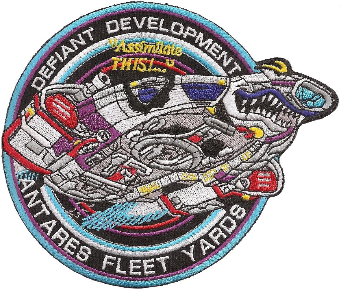 STARTREK Star Trek DS9 Defiant Development Uniform Patch Abzeichen Aufn/äher