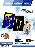 LabelOcean Premium Fotopapier 100 Blatt A4 180g/qm Highglossy hochglänzend wasserfest
