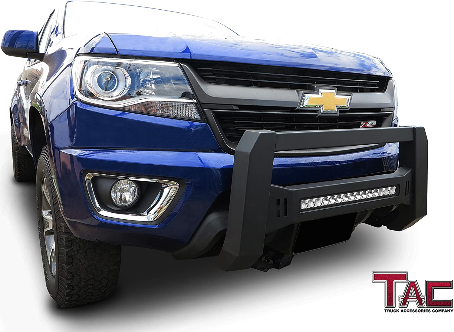 T YONG TONG Front Bull Bar Bumper for 2015-2016 Chevy Colorado Stainless Steel Bull Bar Polished Heavyduty 3 Tube Front Bumper Sturdy Grille Brush Push Guard fits 15-16 Chevy Colorado Easy-Install