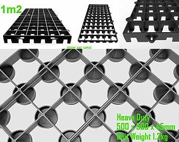 4 Nombre Polyéthylène Noir 500 mm x 500 mm x 45 mm résistant ...