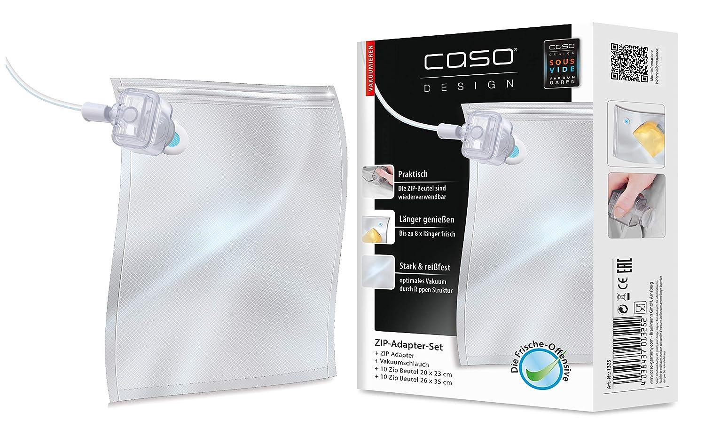 Caso ZIP-Beutel 26x23cm 20 Stück für Vakuumierer mit ZIP-Adapter 26x23cm