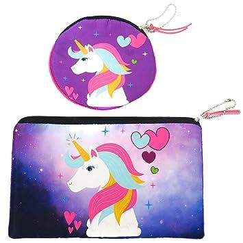 Amazon Com Unicorn Makeup Bag Pencil Case Pouch Coin Purse For