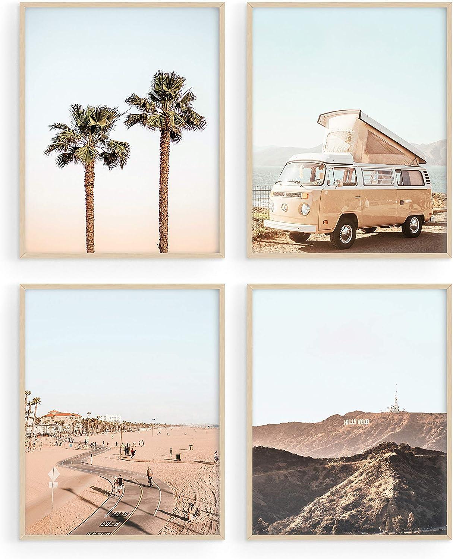 HAUS AND HUES Beach Decor and Art Prints Set of 4 Coastal Decor & Beach Art Prints | Beach Decorations for Home, Beach Bathroom Decor, Beach Wall Decor & Wall Posters | Unframed (8x10)